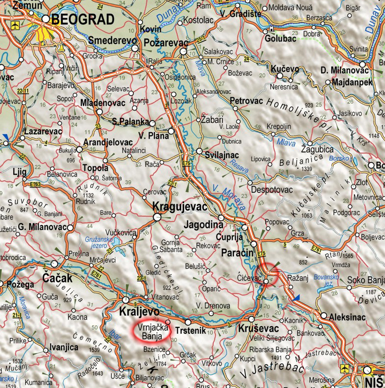 Auto Karta Centralne Srbije Superjoden