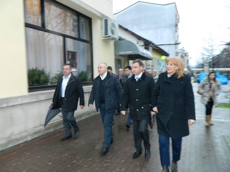 Mladjan Dinkić i Verica Kalanović posetili Vrnjačku Banju